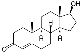Molecular structure of testosterone