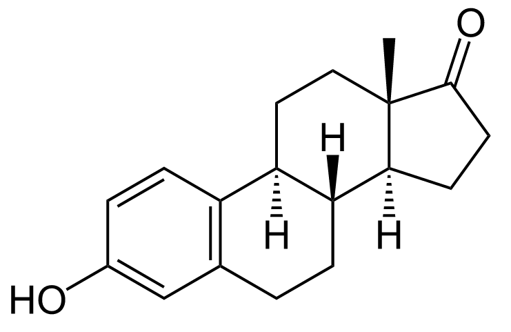 Structure of estrone.